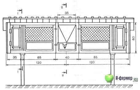 Схема клетки для кур несушек чертежи 94